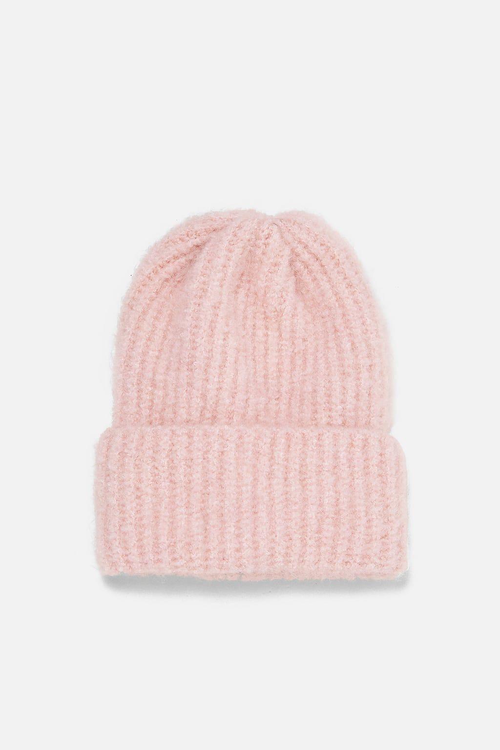 Zdjecie 1 Czapka Typu Beanie Oversize Z Zara Beanie Oversized Beanies Brimmed Hat