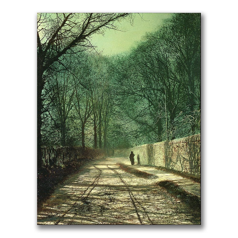 John Grimshaw 'Tree Shadows in the Park Wall' Art