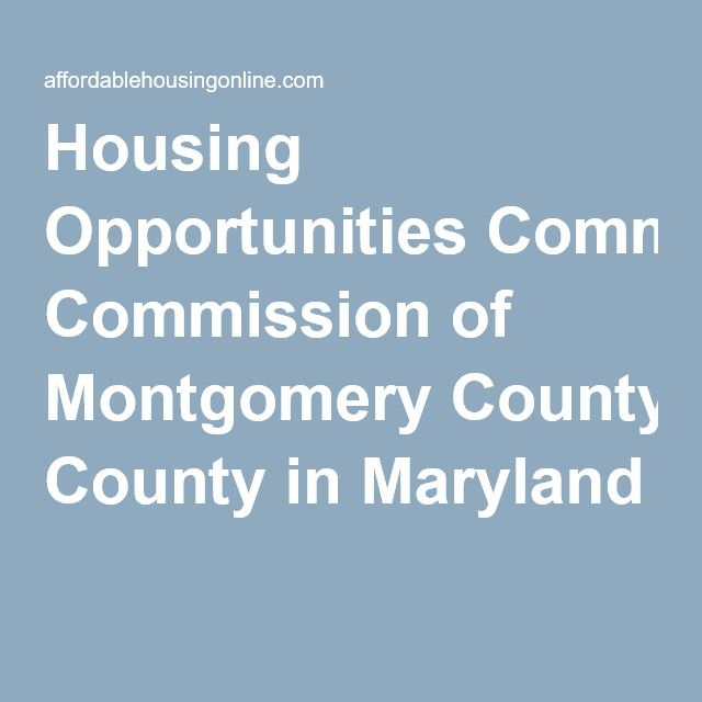 Housing Opportunities Commission Of Montgomery County In