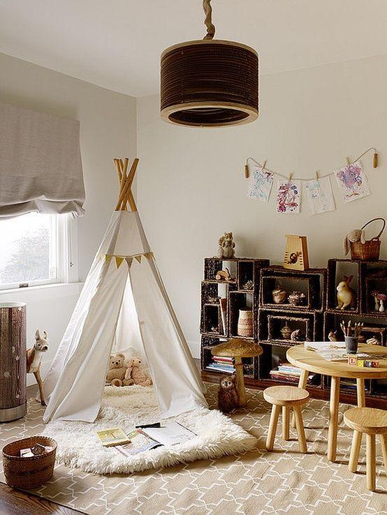 FLOR - Design Blog- love the neutral colors and basket shelves