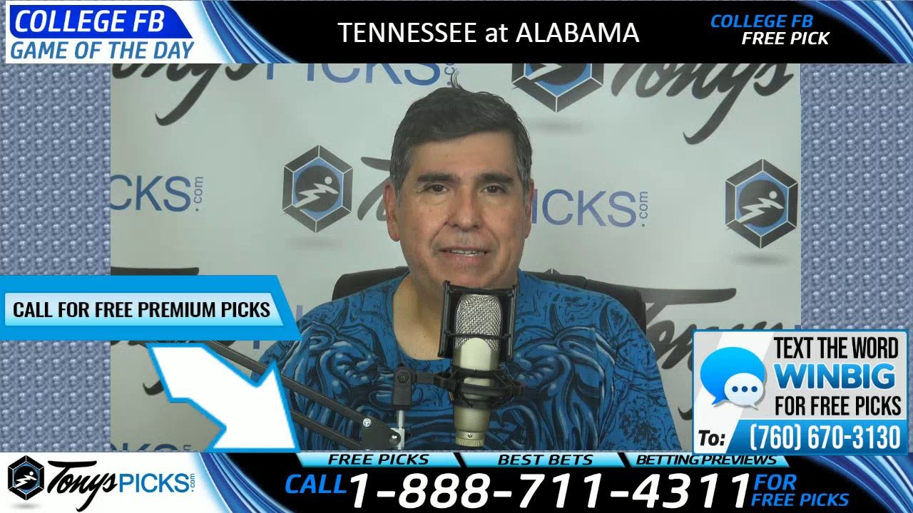 Tennessee vs. Alabama Free NCAA Football Picks and