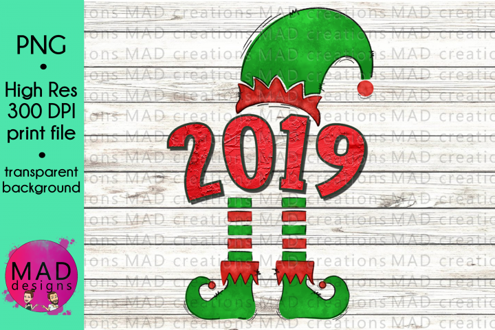 Christmas Elf Year 2019 Hat and Shoes Socks