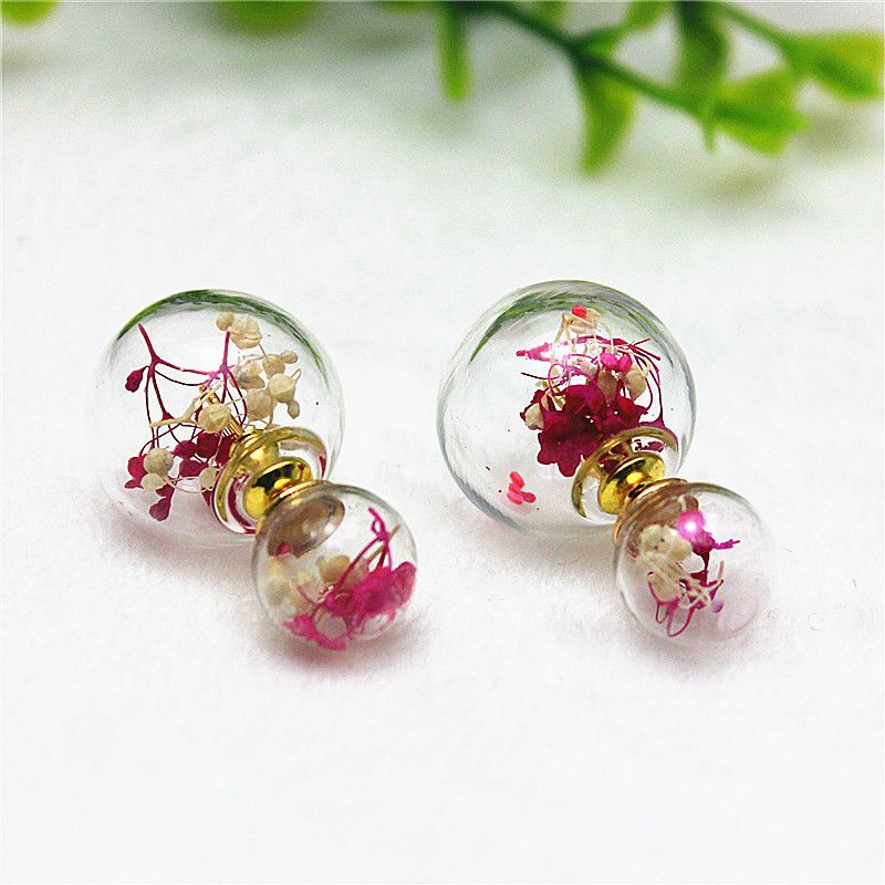 2015 new design fashion brand jewelry double pearl earrings Retro ...