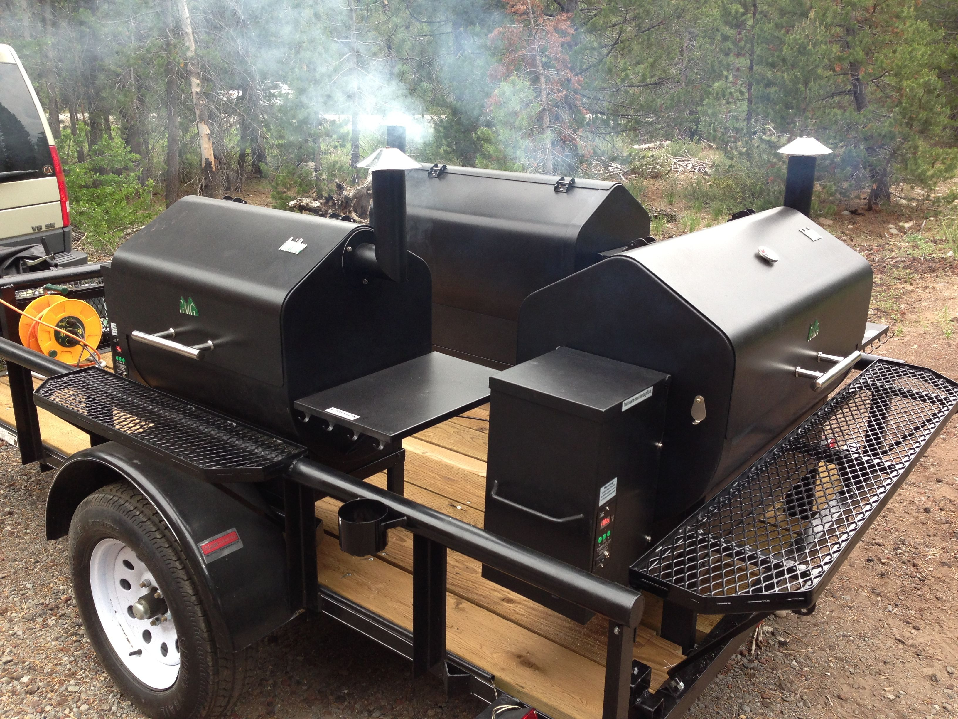 Tahoe pellet grills and big blue q s new bbq trailer
