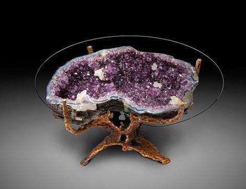 Amethyst Geode Coffee Table Amethyst Crystals Table Design