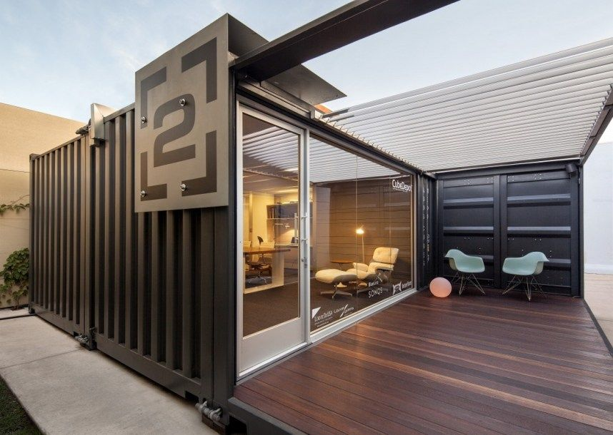 Modern And Cool Shipping Container Guest House 10 Decomagz Shipping Container Office Container House Design Container Architecture