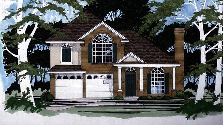 Eplans New American House Plan - Magnificent Exterior - 1639 Square Feet and 3 Bedrooms from Eplans - House Plan Code HWEPL10611