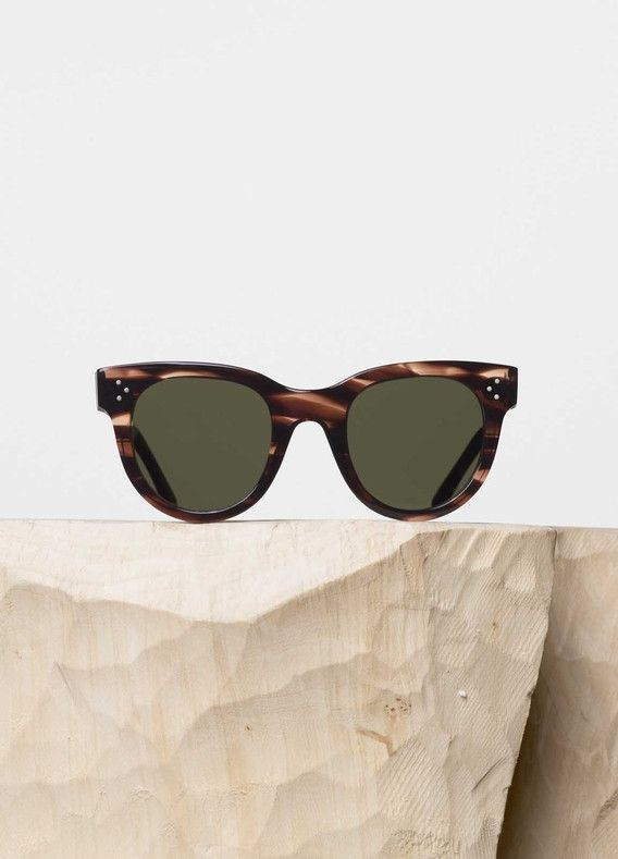 Baby Audrey Sunglasses In Striped Vintage Havana Acetate