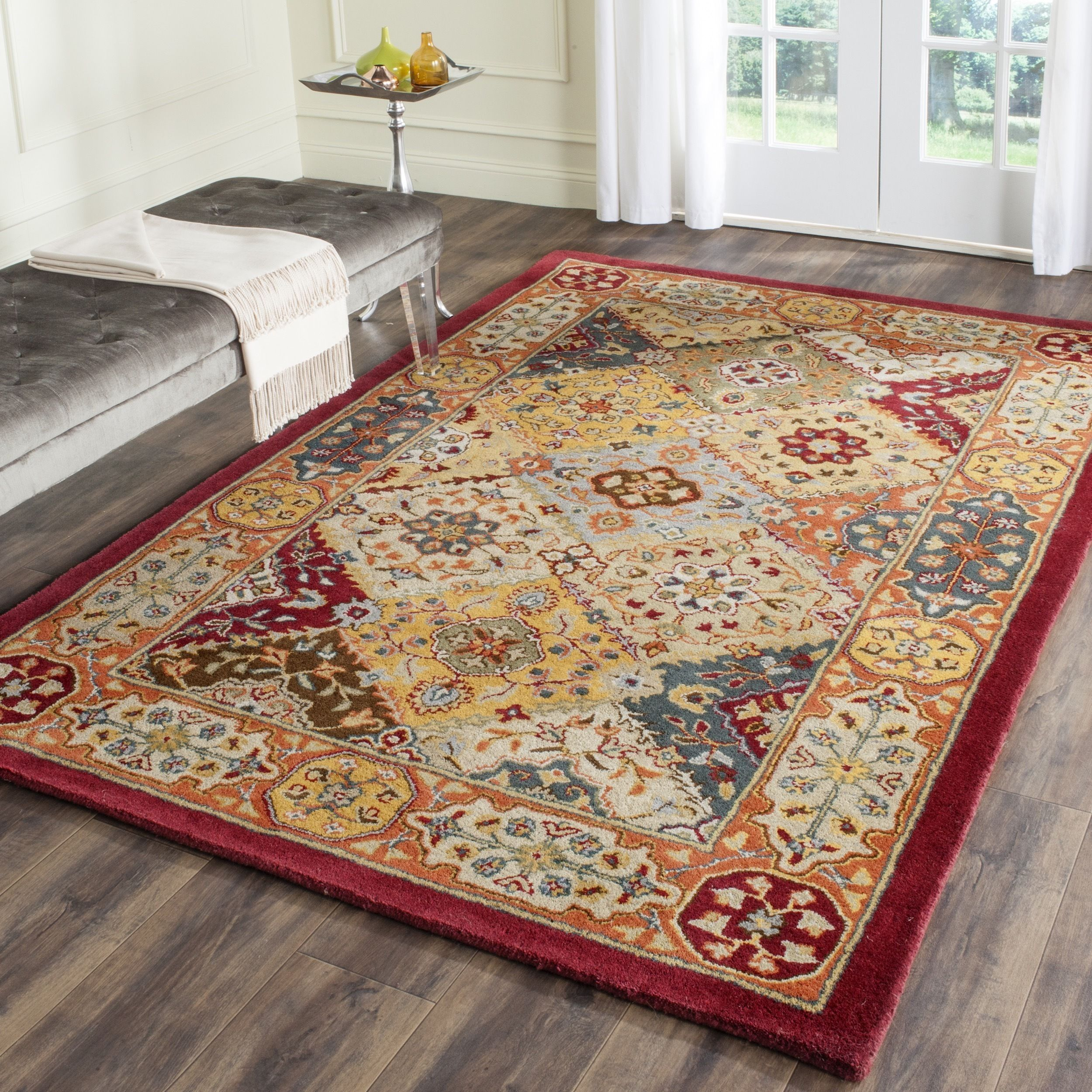 Safavieh Handmade Heritage Traditional Bakhtiari Multi Red Wool Rug