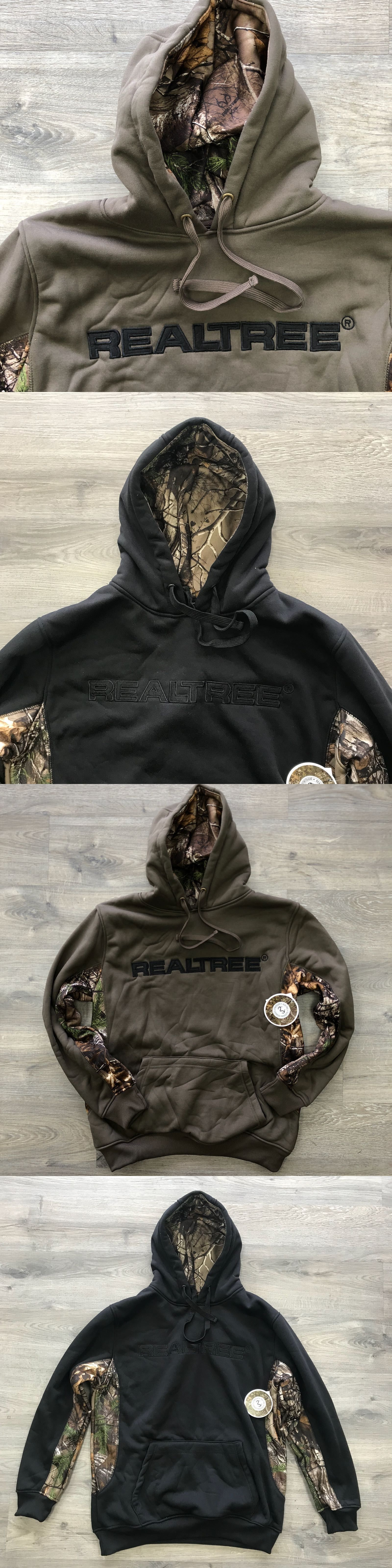 Clothing Shoes and Accessories 36239  Realtree Earthletics Men Pullover  Fleece Hoodie Brown Black Outdoor Hunting Camo -  BUY IT NOW ONLY   19.99  on  eBay ... 10107d8e8fa5