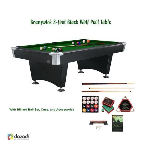 Sleek And Sophisticated The Brunswick Black Wolf Pool Table Is A - Black wolf pool table