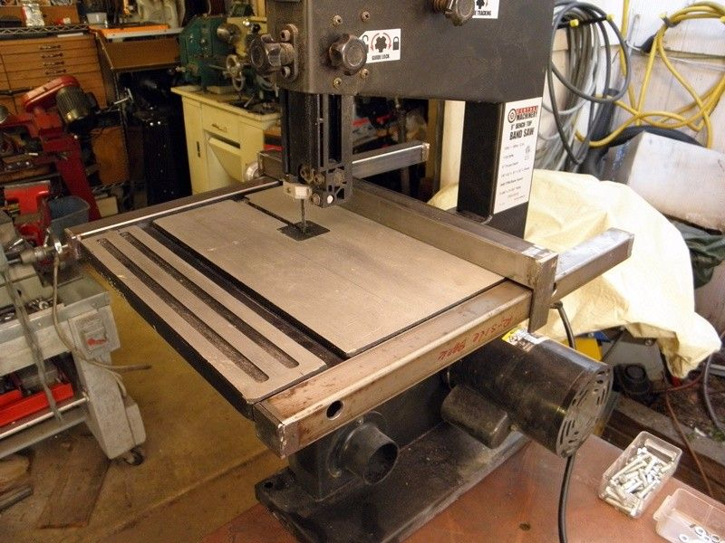 Harbor Freight Band Saw 9 Inch Mod Rip Fence And Support Frame Bandsaw Pallet Coffee Table Coffee Table