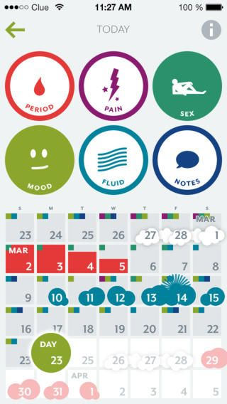 Clue is a beautiful and accurate period tracker, with a
