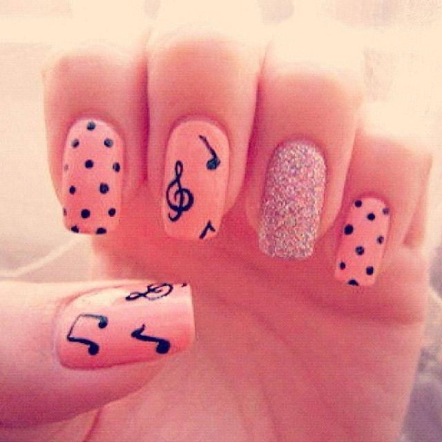 Uñas Con Notas Musicales Uñas Music Nails Music Nail