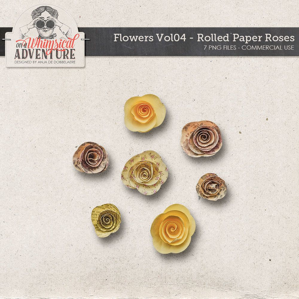 Flowers Vol04 Rolled Paper Roses