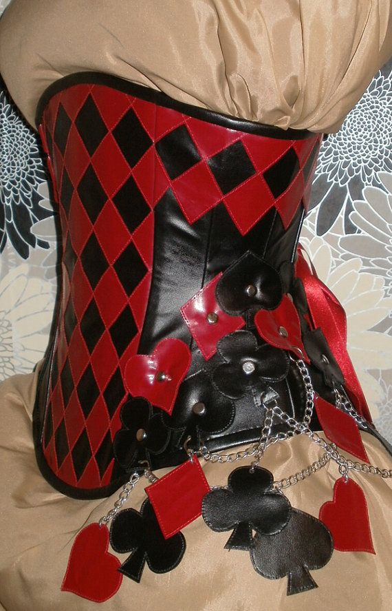9fae4df18b Black and Red Faux Leather Under-Bust Corset