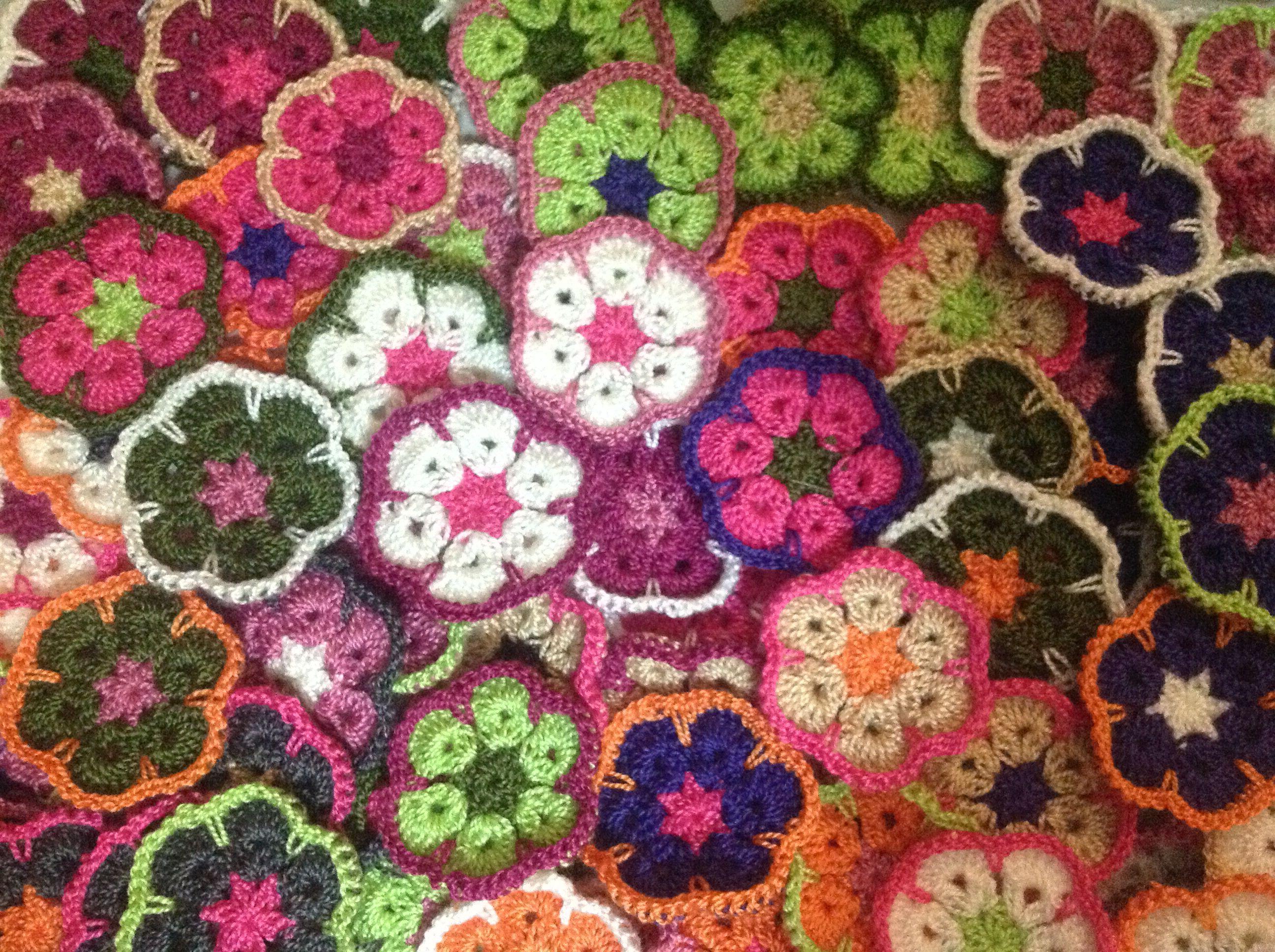 Flor afgana para manta de cuna … | Pinteres…