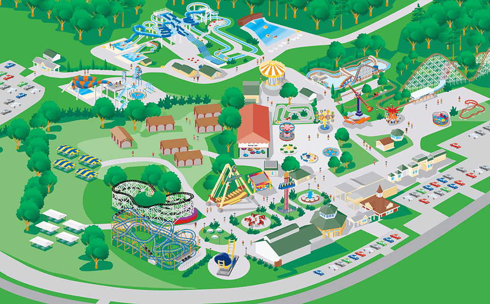 Seabreeze Amusement Park Park Attractions Park Map Summer - Map of all us theme parks