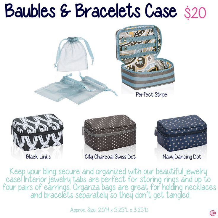 Baubles & Bracelets case to keep your organized on the go