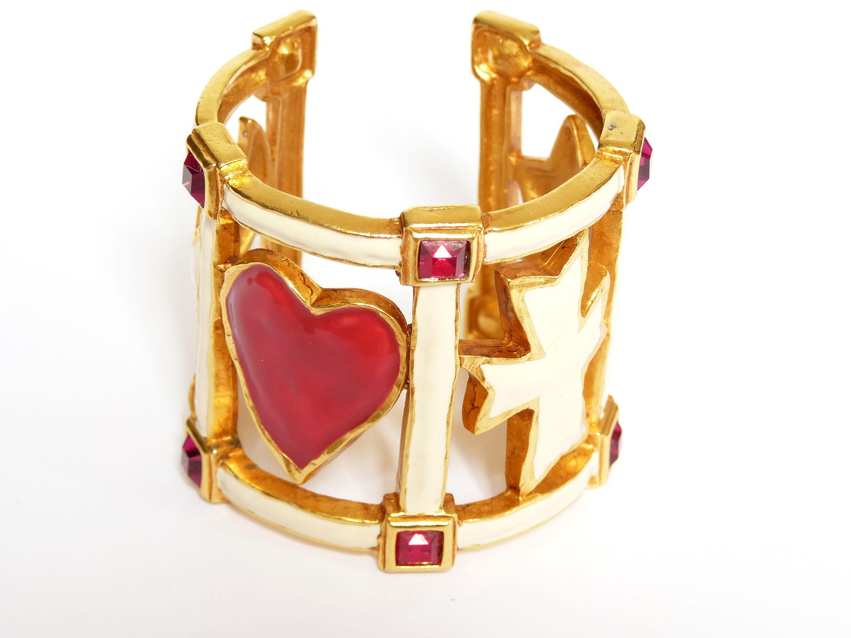 Pin On Bracelet Manchettte Christian Lacroix Haute Couture Vintage