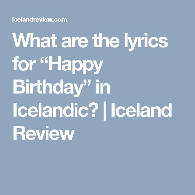 Birthday Party Happy Birthday In Icelandic