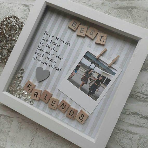 Best Friend Gift | Present For Best Friend | Best Friend Frame | Gift For Bestie | Personalised Best Friend | Best Friend Scrabble Frame