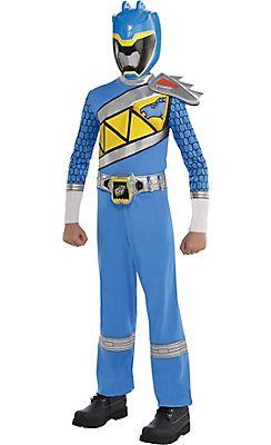 Boys Blue Ranger Jumpsuit Costume - Power Rangers Dino Charge ...