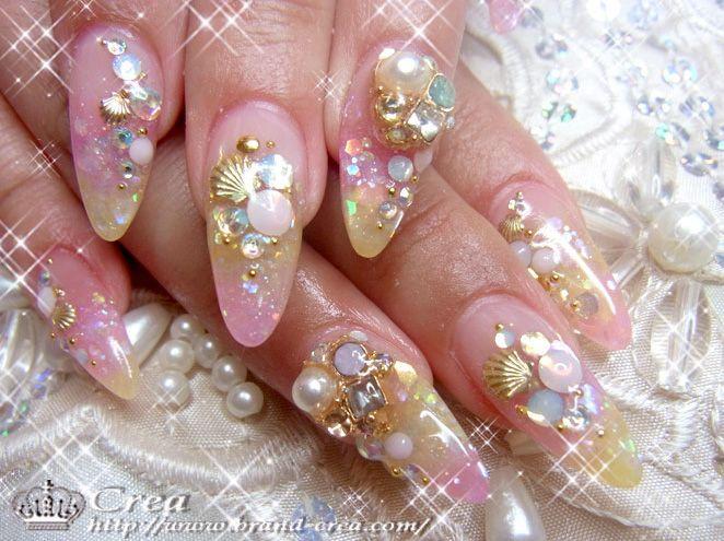 crea-nailsalon-parts   デザイン   Pinterest   Seashell nails ...