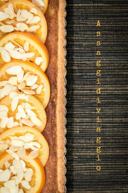 Crostata frangipane con arance glassate per il Calendario del Cibo Italiano