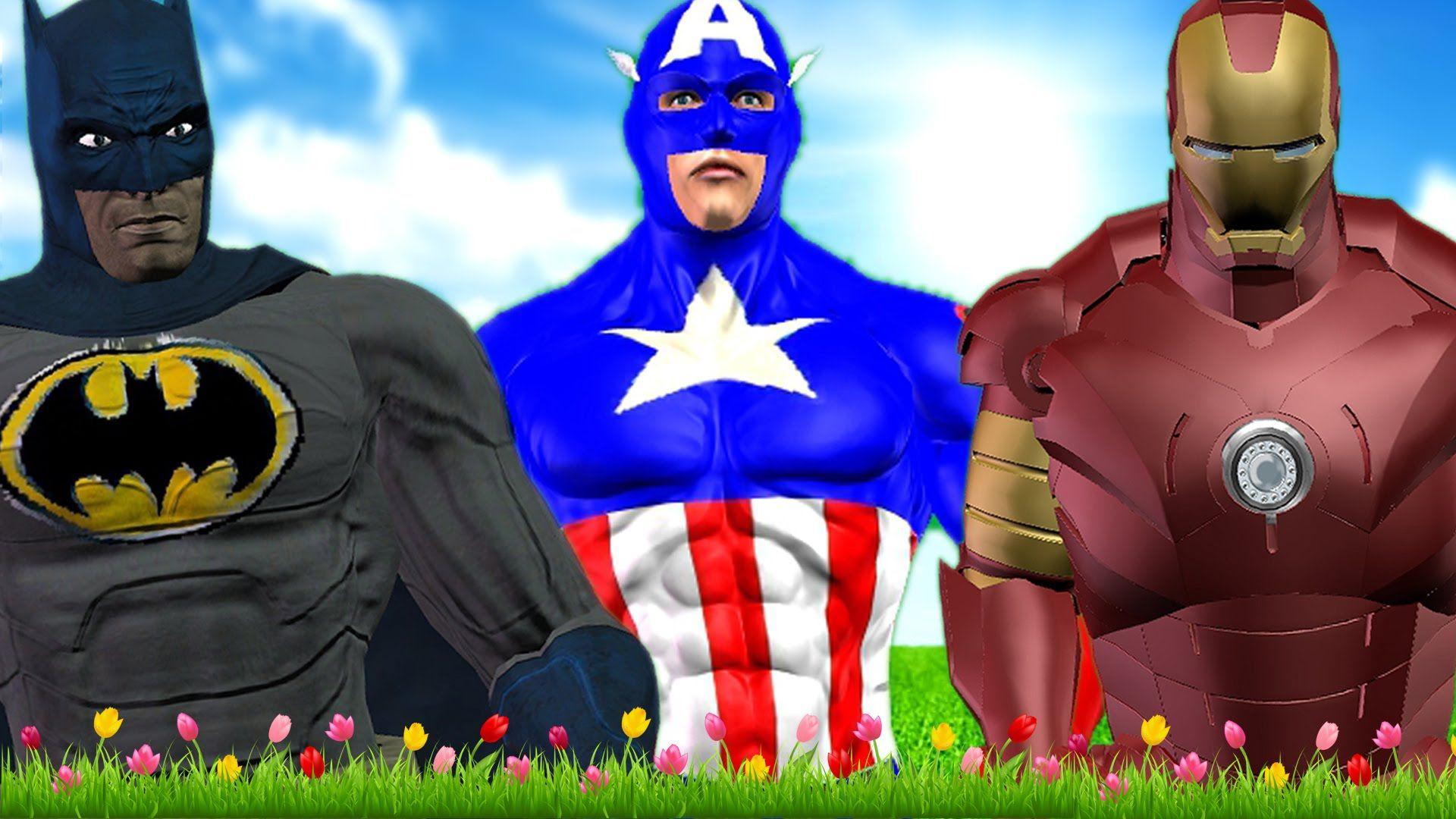 ironman batman captain america cartoons dancing videos superheroes