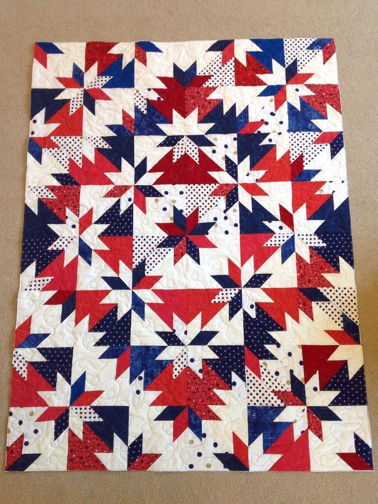 Judy's Grandbaby's Hunter Star quilt. From the Mystery Quilt class ... : red star quilt - Adamdwight.com