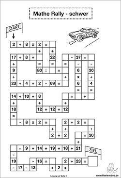 Mathe Rätsel schwer für Kinder | Matematika | Pinterest | Mathe ...