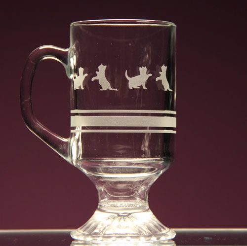 Kittens At Play Etch This Glass Mug Warmour Etch Cream Re Usable