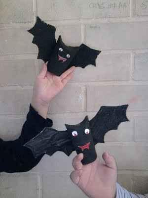 Unos Murciélagos Muy Enrollados Manualidades Manualidades Infantiles Manualidades Fáciles