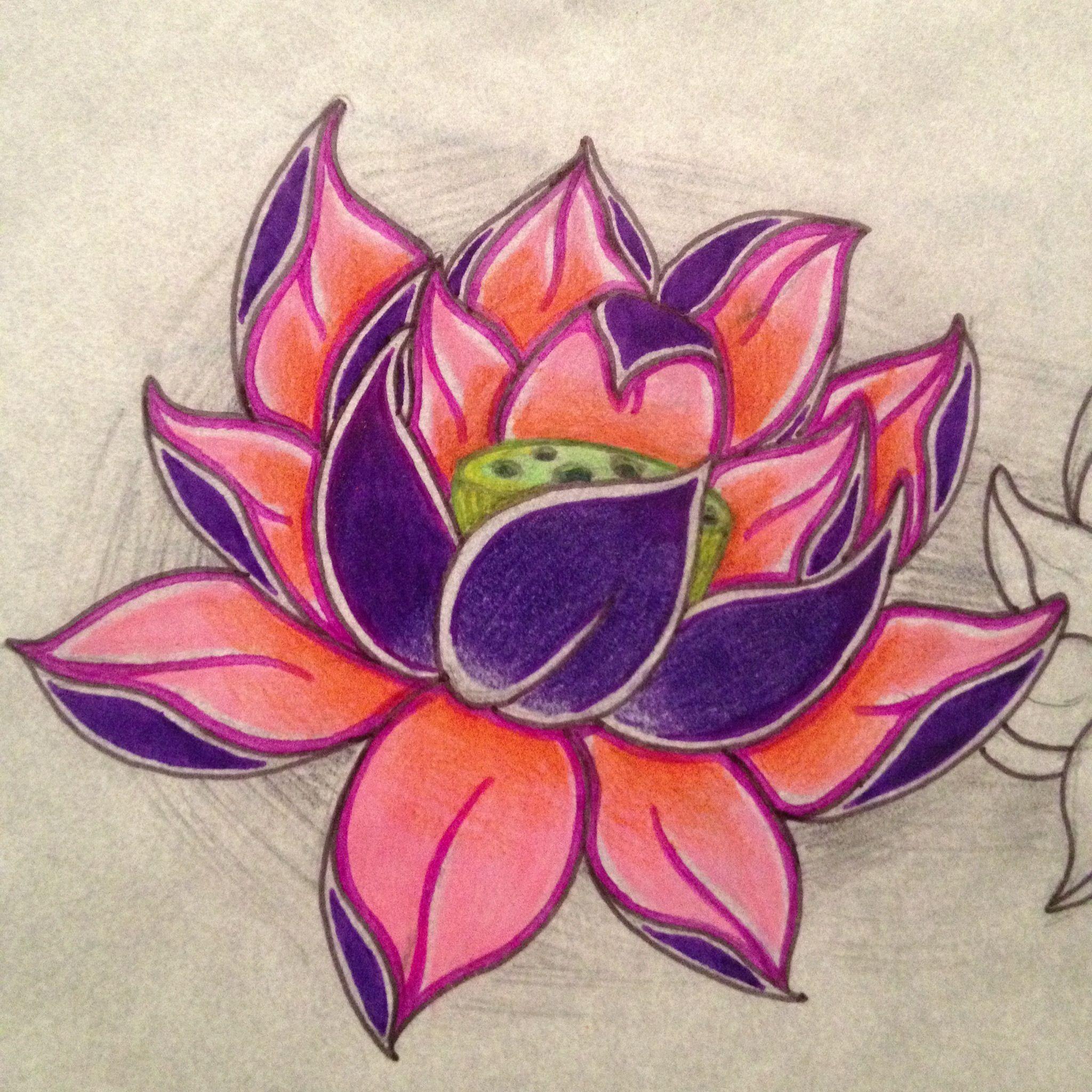 Lotus flower sharpie and color pencil art pinterest lotus flower lotus flower sharpie and color pencil izmirmasajfo