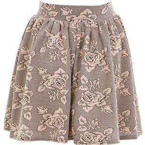 Miss Selfridge Rose Jacquard Skater Skirt