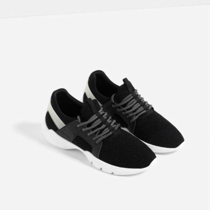 Zara Shoes Zara Glitter joggeskoFarge: BlackWhite Zara Glitter joggesko Color: BlackWhite