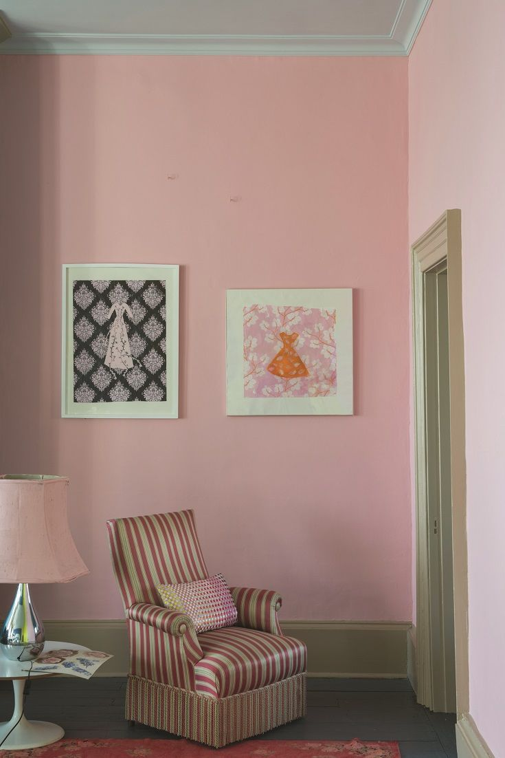 Farrow and Ball\'s Nancy\'s Blushes is a stunning pink paint colour ...