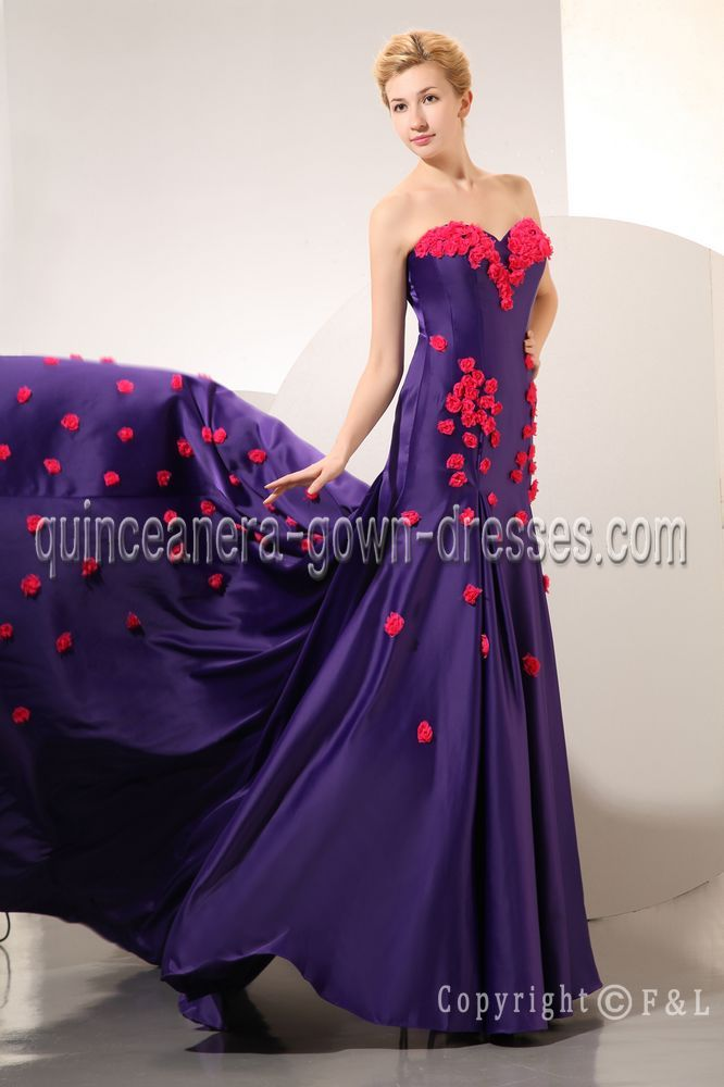 Purple Column Sweet 16 Dresses with Rose IMG_9821 | 2014 Gorgeous ...