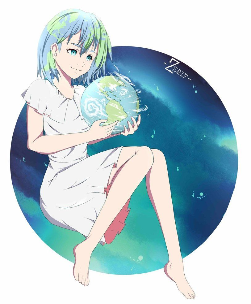 Earth Chan By Jefri21mdeviantart On DeviantArt