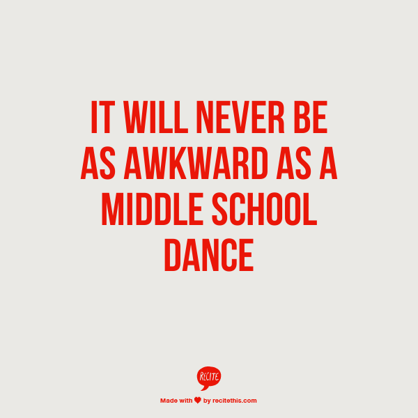 It will never be as awkward as a middle school dance | Let's Laugh