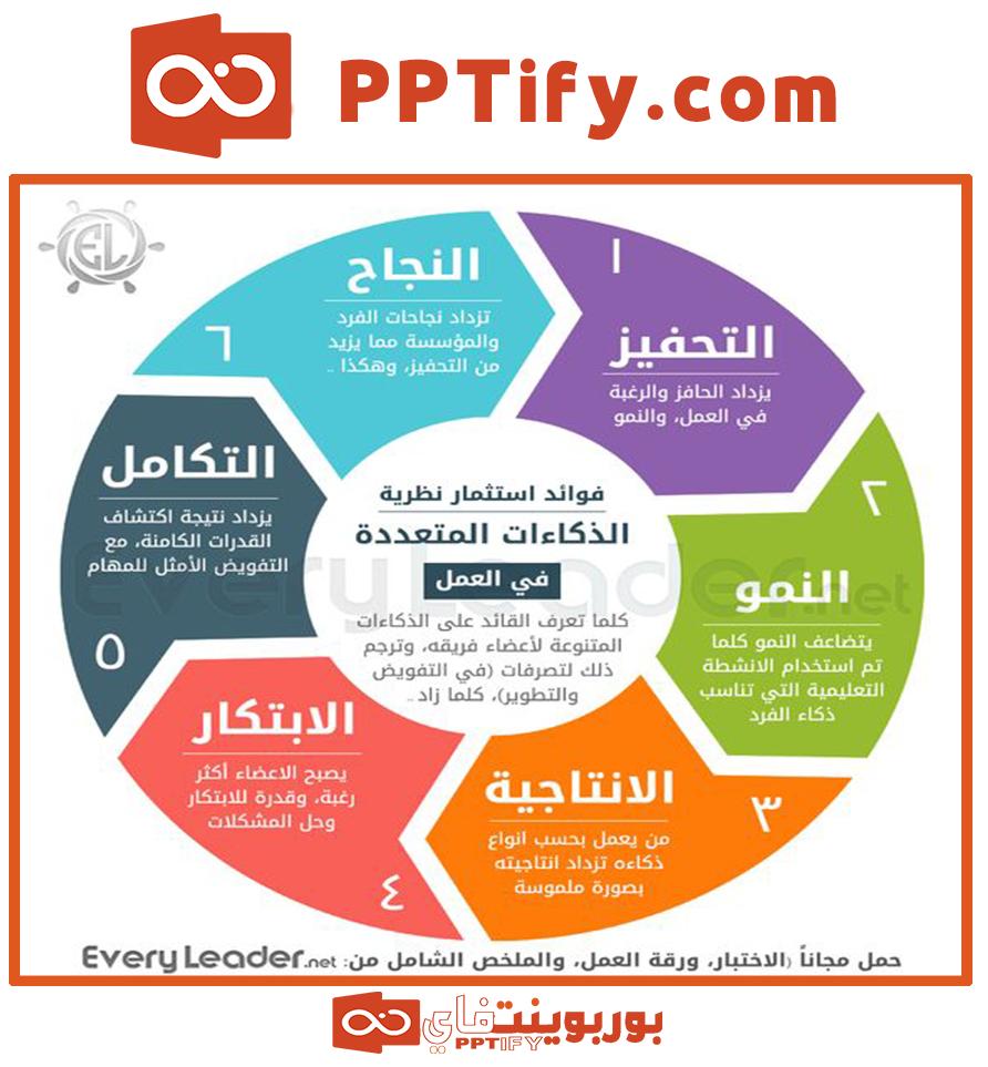 الذكاءات المتعددة Pie Chart Chart Diagram