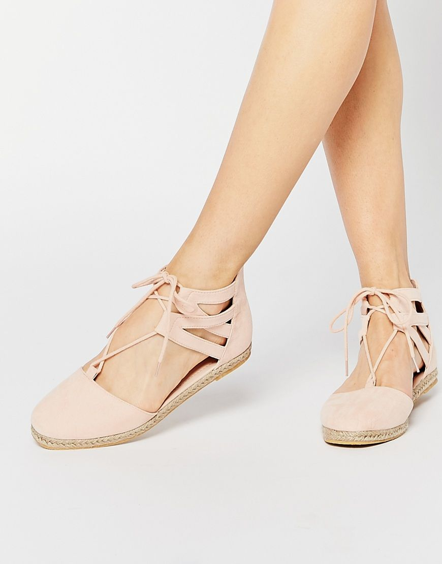 7998f9798e831a Image 1 of ASOS JESSICA Lace Up Espadrilles