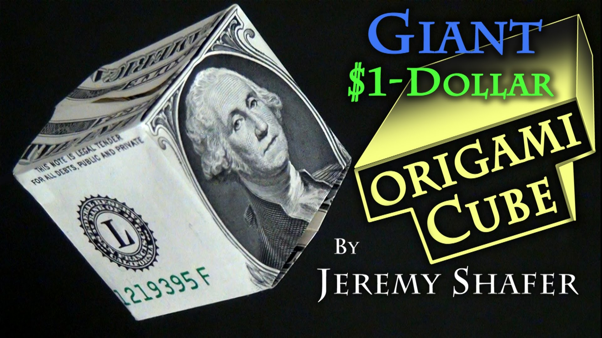 Tutorial for how to fold cube from a dollar bill with george in this video i will show you step by step how to fold this dollar origami guitar all you need is a single dollar bill jeuxipadfo Image collections