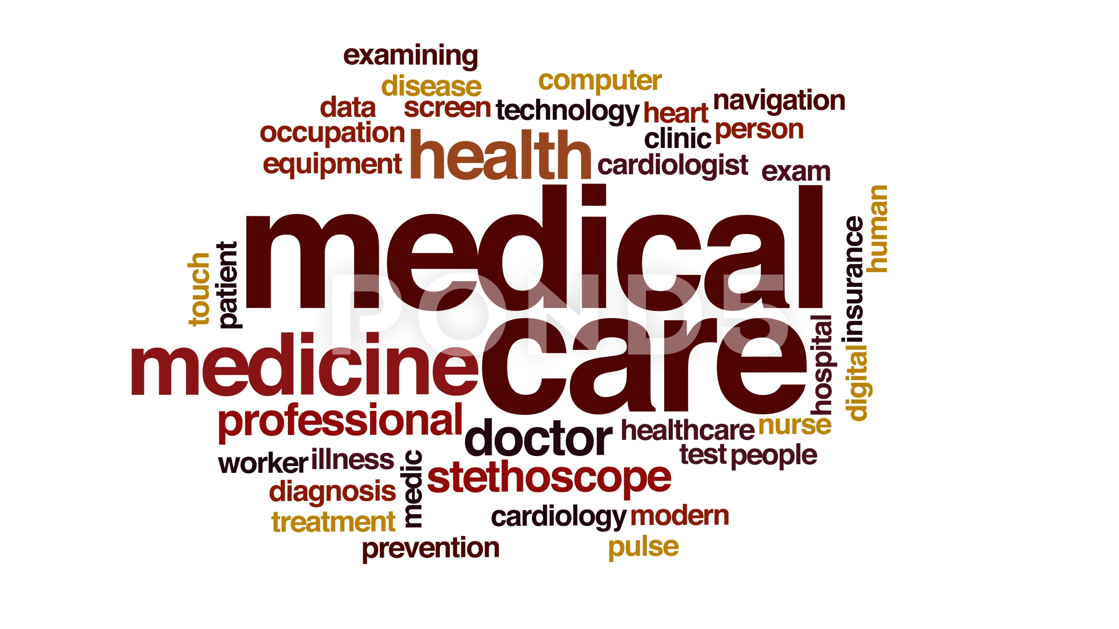 Medical Care Animated Word Cloud Stock Footage Animated