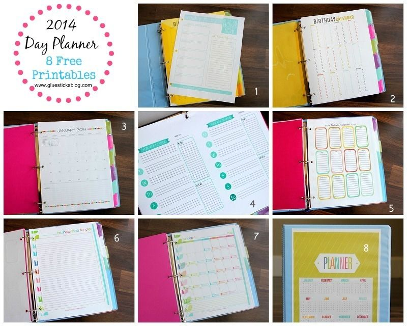 2014 Day Planner {Free Printables!} Free printables, Planners and