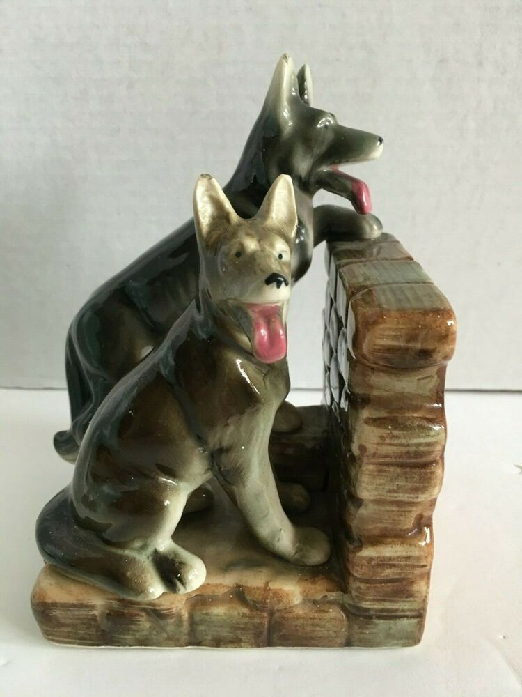 Vintage German Shepard Dogs Bookend Ceramic Japan Single #germanshepards Vintage German Shepard Dogs Bookend Ceramic Japan Single #germanshepards