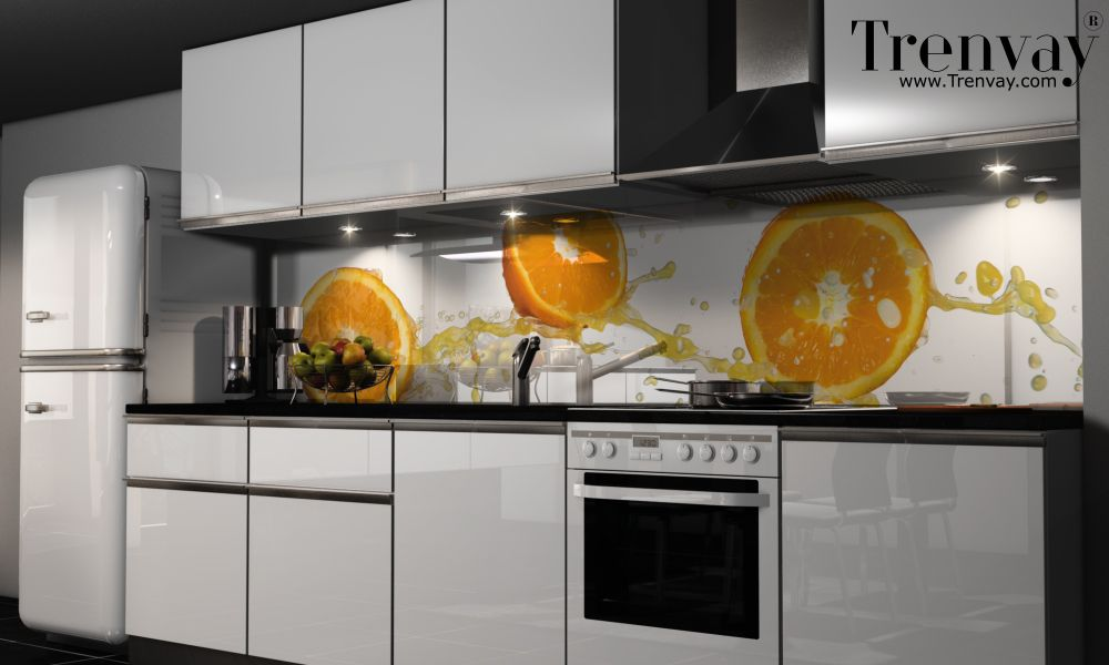 Yapışkanlı Tezgah Folyosu - glasbilder für küche