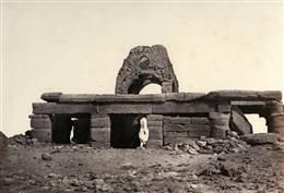 The Rock Temple of Amada (Egypt), erected under Tuthmosis III and Amenophis II (18th Dynasty). 1851. Photograph.