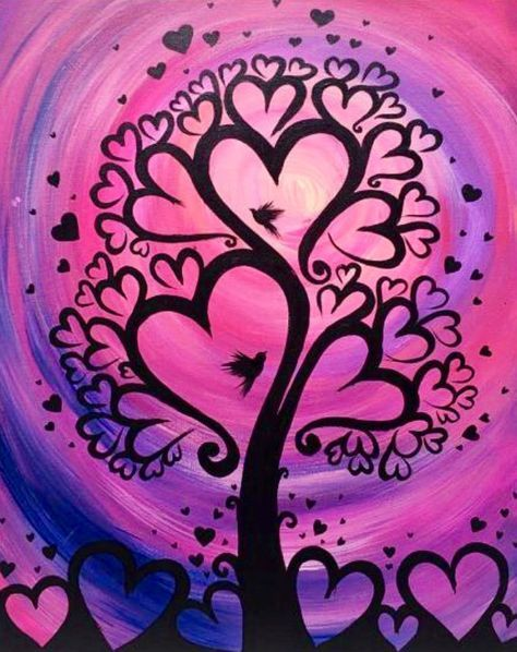 Painting cute canvases heart 26 Ideas